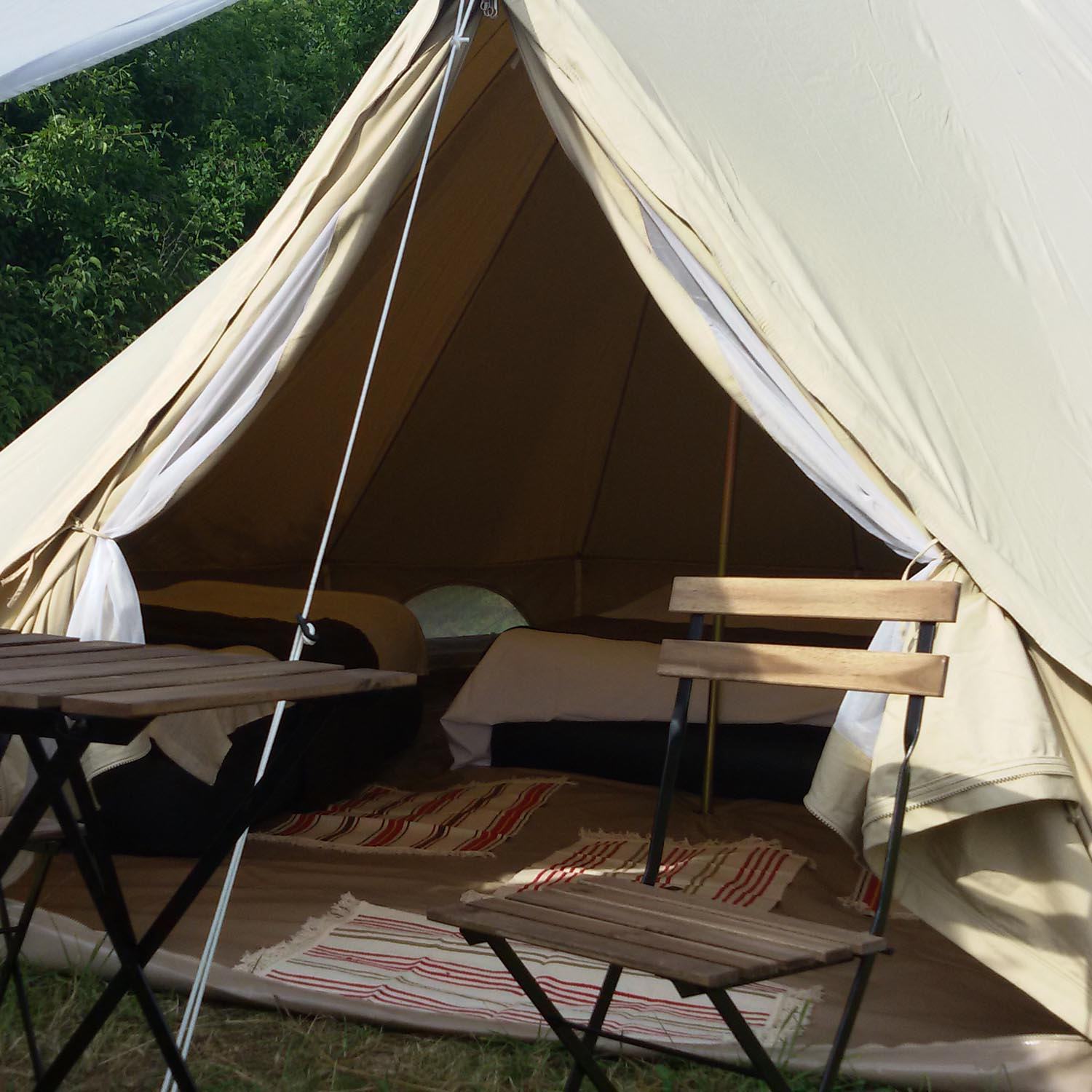 Glamping tent for 1-4