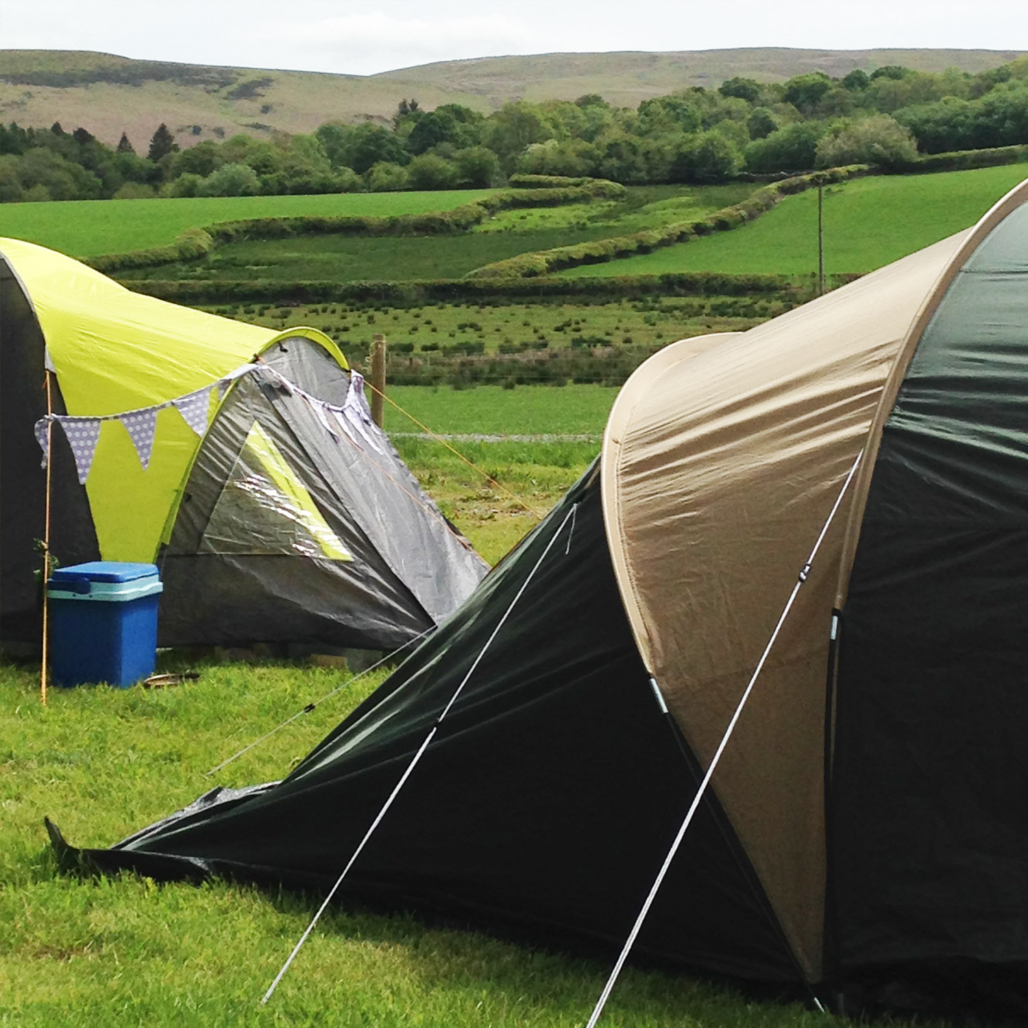 Camping pitches for 4-6 person